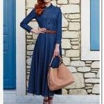 Aşiyan kot elbise-lacivert-210 TL