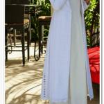 Annah Hariri beyaz uzun ceket