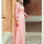 Annah Hariri mercan uzun elbise