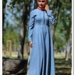 Dugmeli-Kot-Elbise-3060-Mavi_160 TL