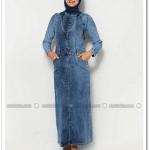Kayalar-kapşonlu kot salopet elbise-90 TL