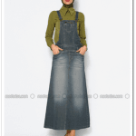 Neways-gri salopet elbise-