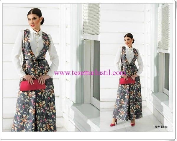 Puane 2015 çiçek desenli elbise modelleri