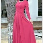 efkeyem-pembe-adda-kloş kesim-elbise-170 TL