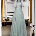 gamze-polat-mint-papatya-abiye-elbise-430 TL