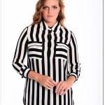 merve dağlı for ladies siyah çizgili cepli gömlek-235 TL