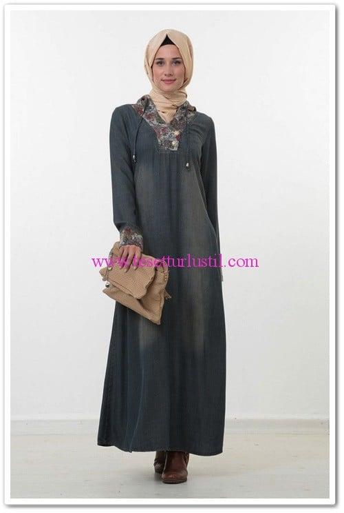 myred-kapişonlu elbise-kot-200 TL