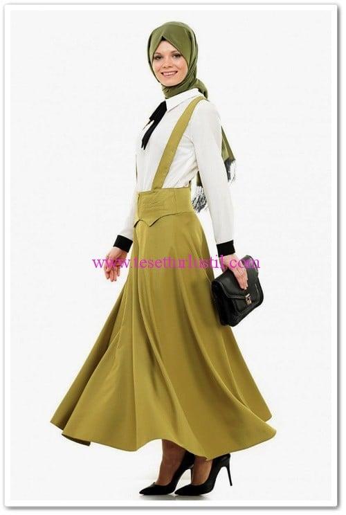 veteks-salopet-elbise-fıstık yeşili-80 TL