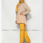 Özne olmak sarı yüksek bel pantolon-80 TL