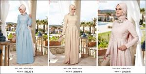Alvina 2015 jakar tesettür nişan elbiseleri