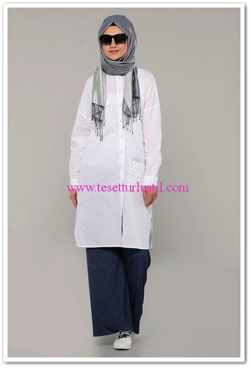 Diesre beyaz gömlek tunik-108 TL