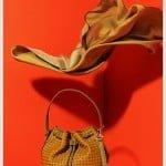 Kayra örgü detaylı bucket çanta
