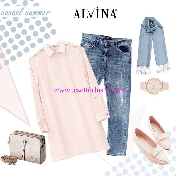 Alvina 2015 yaz tesettür spor giyim kombini