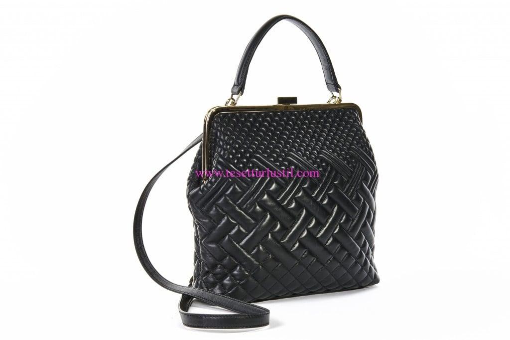 DESA-2016-siyah deri kadın çantası modelleri
