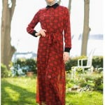 Kazzaz kırmızı ekose elbise-300 TL