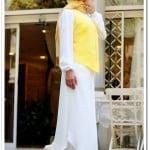 Sena Şimşek ahenk sarı-beyaz yelekli takım