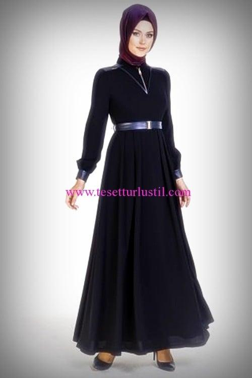 Armine 2016 tesettür lacivert elbise-350 TL