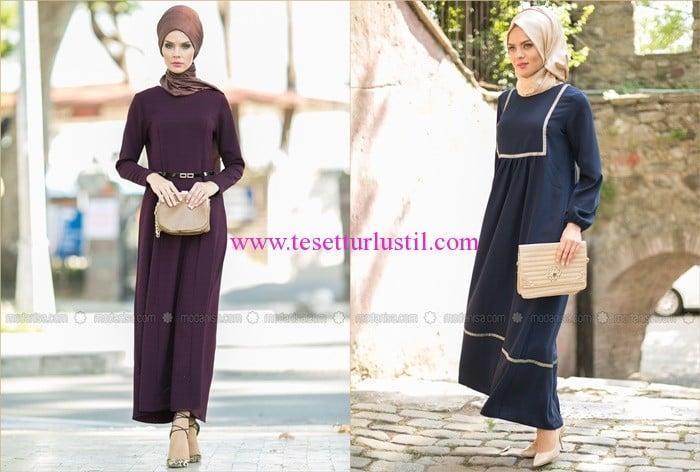 Refka 2015 sonbahar tesettür elbise modelleri