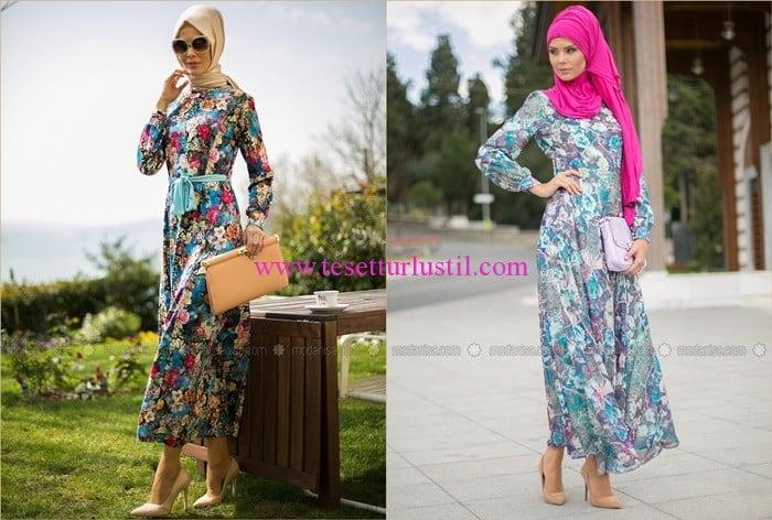 Refka 2016 yeni sezon çiçekli elbise modelleri