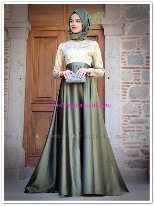 paris abiye haki-elbise-Mevra