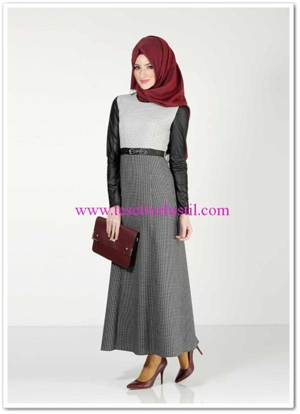 Alvina-forever-8383-elbise-siyah-gri-149 TL