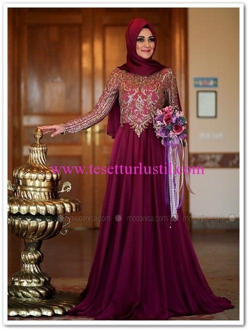 Minel Aşk fuşya Ayışığı abiye elbise-485 TL