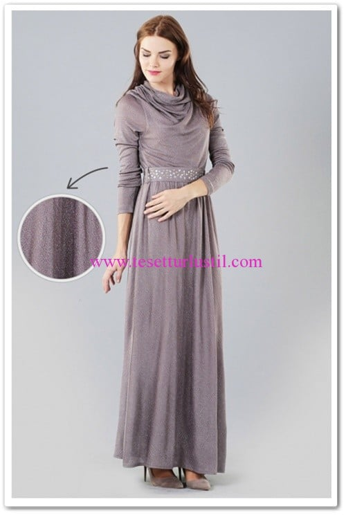 butik-simge-degaje-yaka-elbise-vizon-100 TL