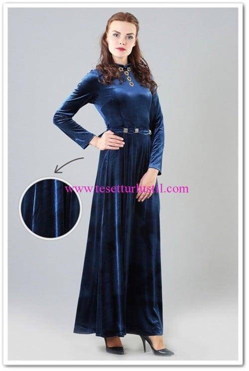 butik-simge-dik-yaka-kadife-elbise-lacivert-100 TL