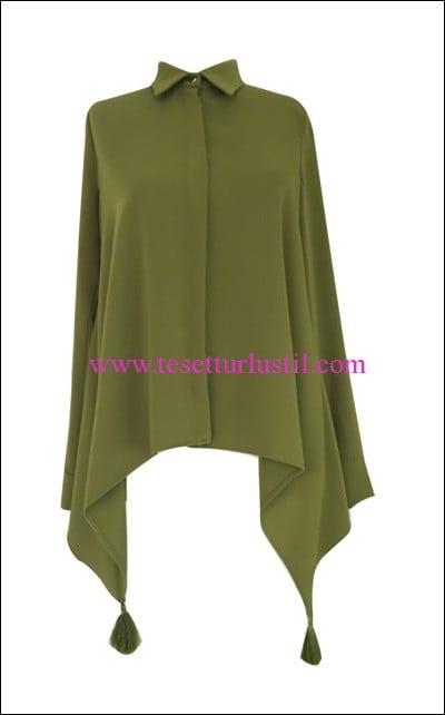 Al Marwah yeşil püsküllü bluz-199 TL