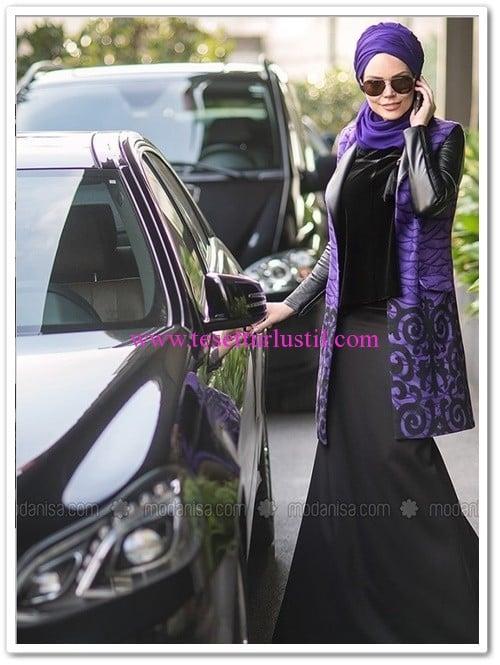 Muslima Wear mor viola yelek-350 TL