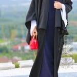 Annah Hariri çizgili abaya panço-472 TL