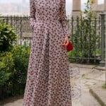 Annah Hariri floral desenli elbise