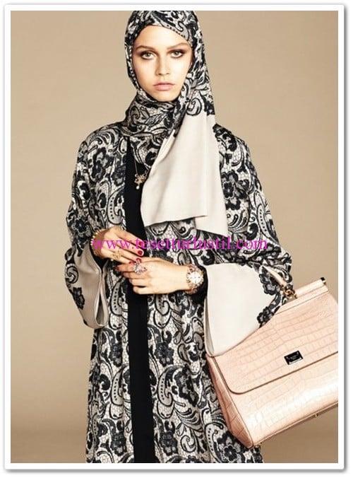 Dolce&Gabbana desenli abaya modelleri