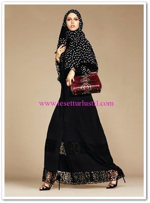 Dolce&Gabbana siyah abaya modelleri