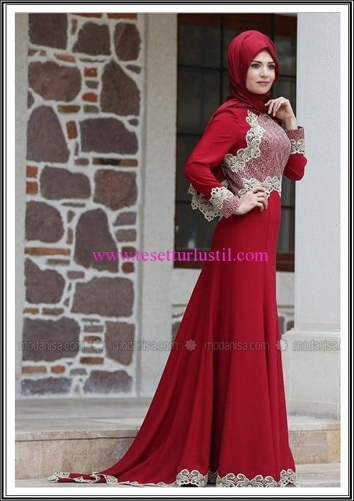 Zehrace bordo kuyruklu abiye elbise-450 TL