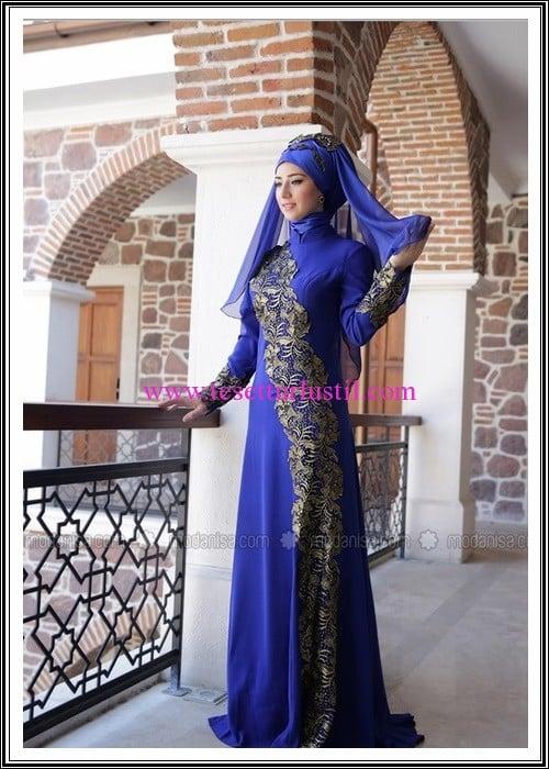 Zehrace saks gipürlü abiye elbise-400 TL
