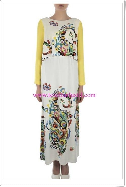 Aker desenli elbise-259 TL