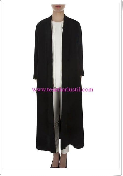 Aker siyah uzun ceket-304 TL