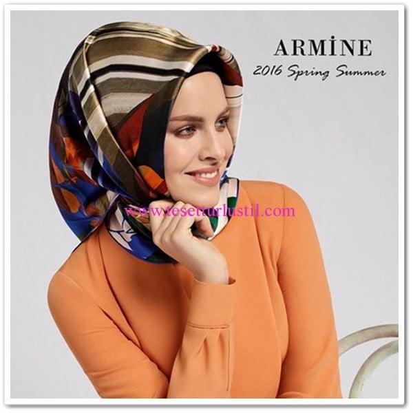 Armine 2016 ilkbahar-yaz eşarp modelleri