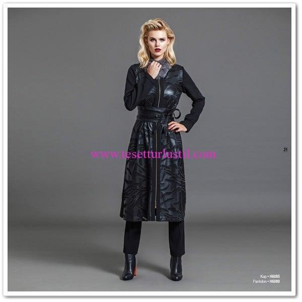 Huşe Giyim 2016 siyah kap
