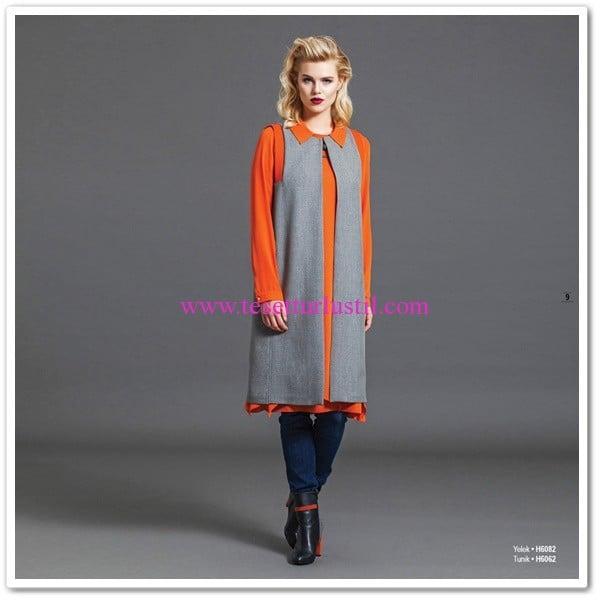Huşe Giyim turuncu tunik