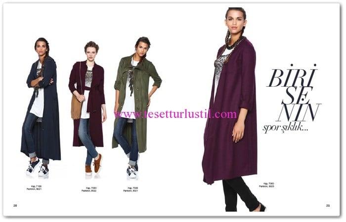 Seçil Giyim 2016 ince kap modelleri