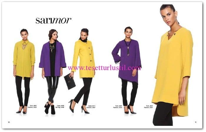 Seçil Giyim 2016 sarı tunik modelleri