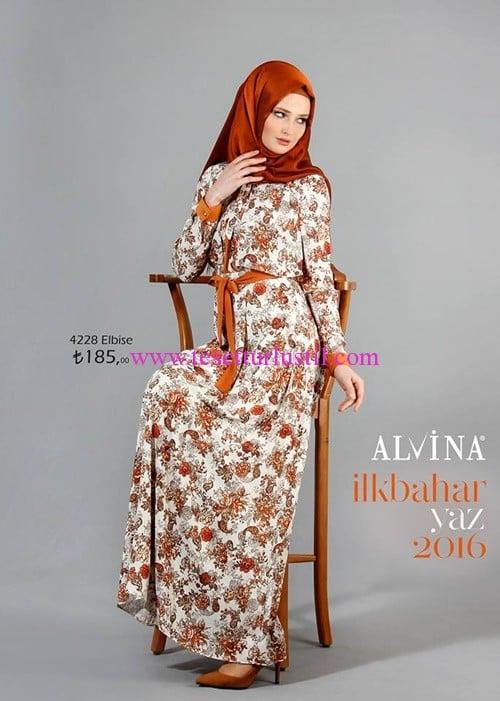 Alvina 2016 ilkbahar-yaz tesettür elbise modelleri