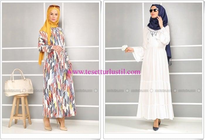 Refka 2016 yazlık tesettür elbise modelleri