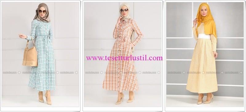 Refka 2016 yeni sezon pötikare-ekose elbise modelleri