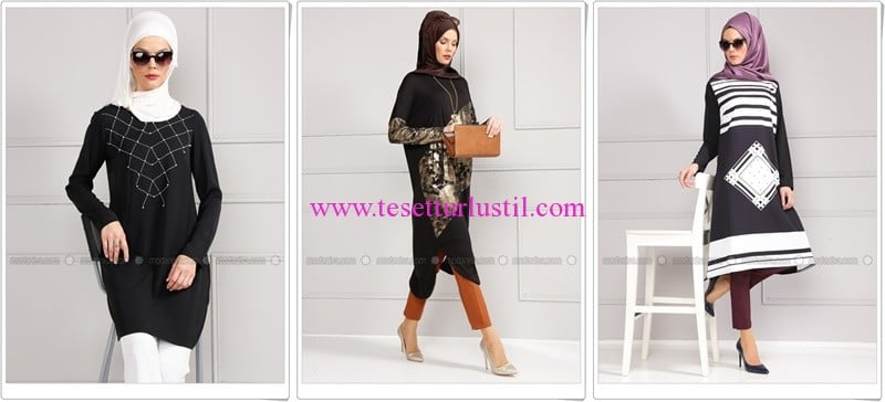 Refka 2016 yeni sezon siyah tunik modelleri