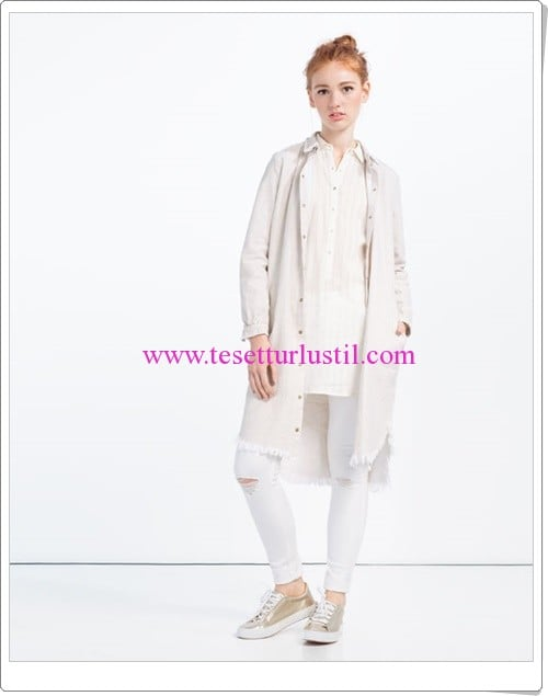 Zara beyaz gömlek tunik-150 TL
