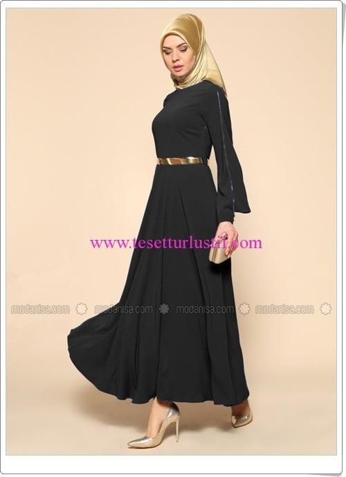 kemerli-elbise-siyah-puane-200 TL