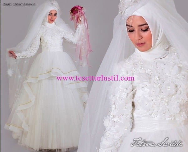 Fatma Sevildi tesettür gelinlikler